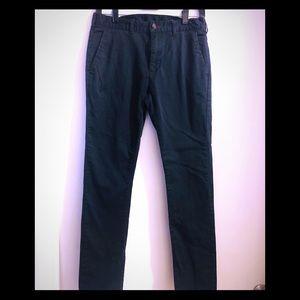 Men's bullhead skinny navy trouser.  Sz w29 l30